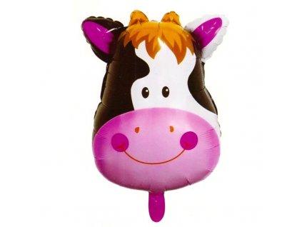 40408 nafukovaci balonek hlava kravicky 46 cm