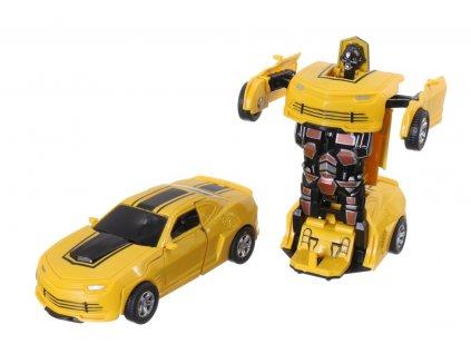 Auto robot tranformující se 13,5 cm (1512) (Barva Žlutá)