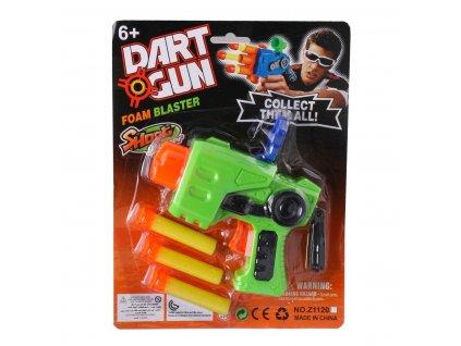 Dart gun pistole s nábojemi 1185 (Barva Zelená)
