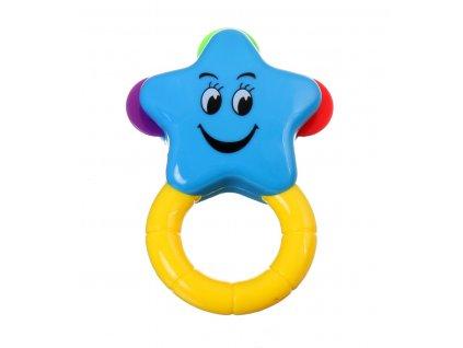 41155 baby toys chrastitko hvezda modra