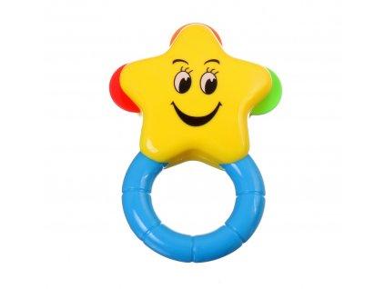 41158 baby toys chrastitko hvezda zluta