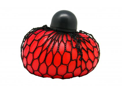 Antistresový míček se síťkou růžovo-červený