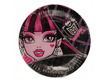 42323 papirove talirky monster high 18 cm