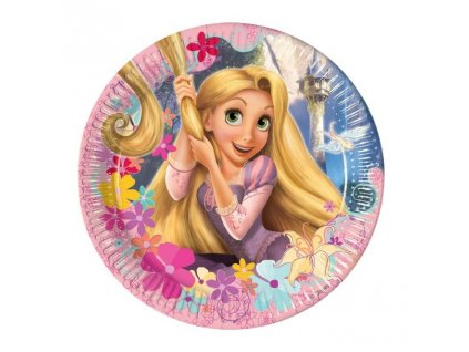 7001964 5201184055991 decorata party paper plate tangled 23 cm rockaparty 1 800x800
