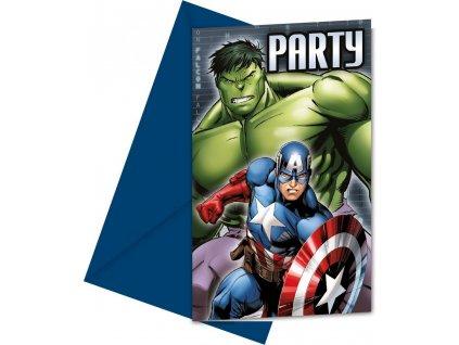 Pozvánka na party Avengers 6 ks
