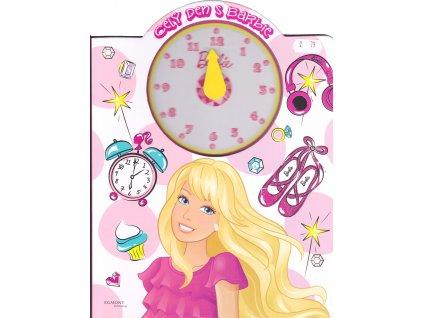 42474 barbie cely den s barbie kniha s hodinami