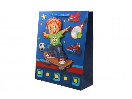 42693 darkova taska detska kluk stredni 3d s glitry modra 1 0071