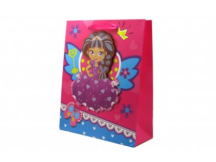 42702 darkova taska detska princezna stredni 3d s glitry ruzova 2 0071
