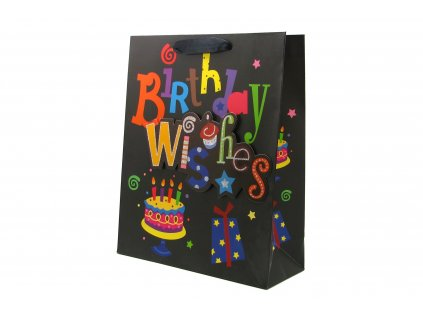 42705 darkova taska happy birthday stredni 3d s glitry cerna 0101
