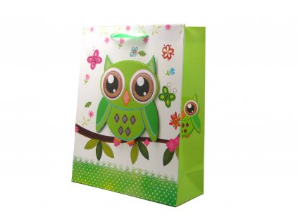 42750 darkova taska sovicka stredni 3d s glitry zelena 0057
