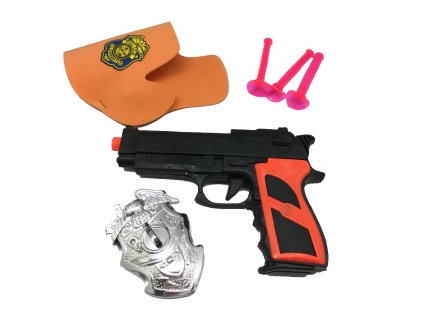 policejní pistole odznak