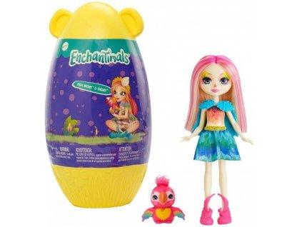 Enchantimals panenka ve vajíčku Peeki Parrot & Sheeny 15 cm