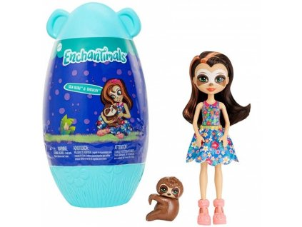 Enchantimals panenka ve vajíčku Sela Sloth & Treebody 15 cm