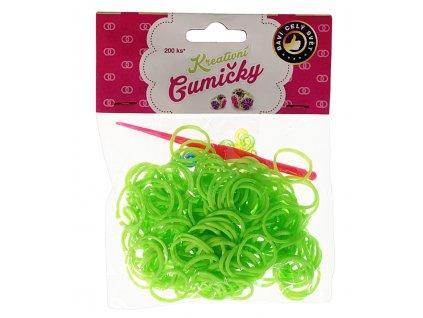 41755 4 59 loom bands pletaci gumicky svetle zelene 200ks hacek