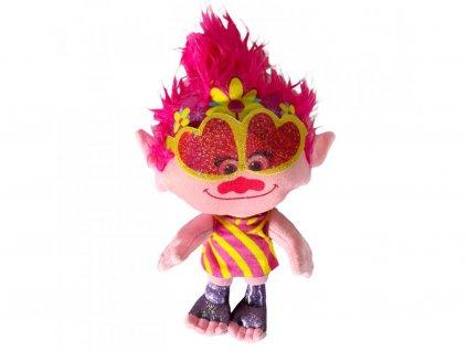 Trollové plyšová hračka Poppy s brýlemi 23 cm