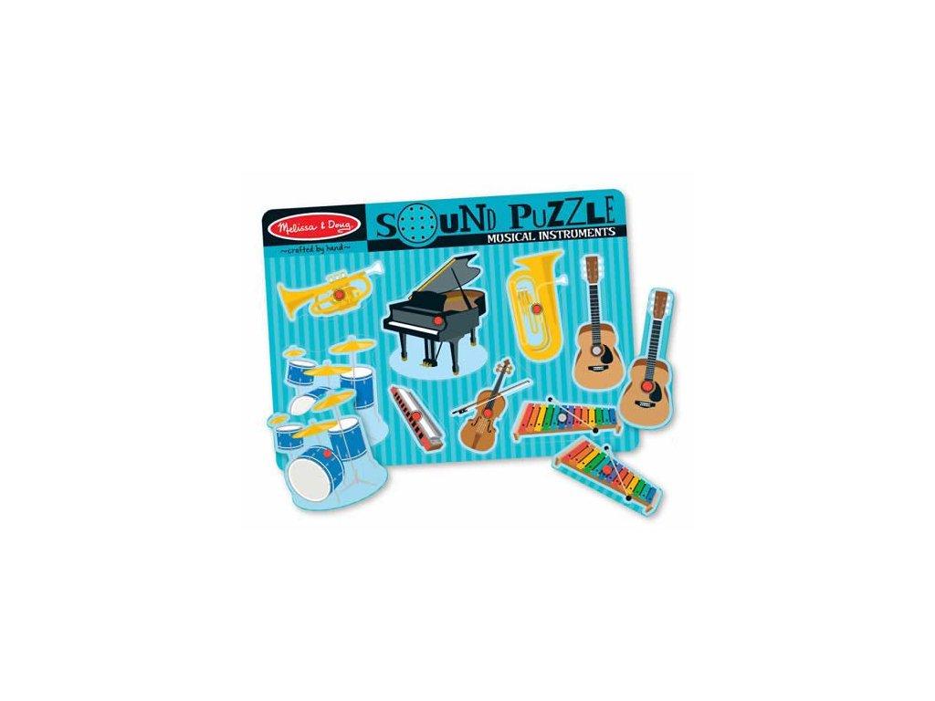 Skládačka se zvuky - Hudební nástroje