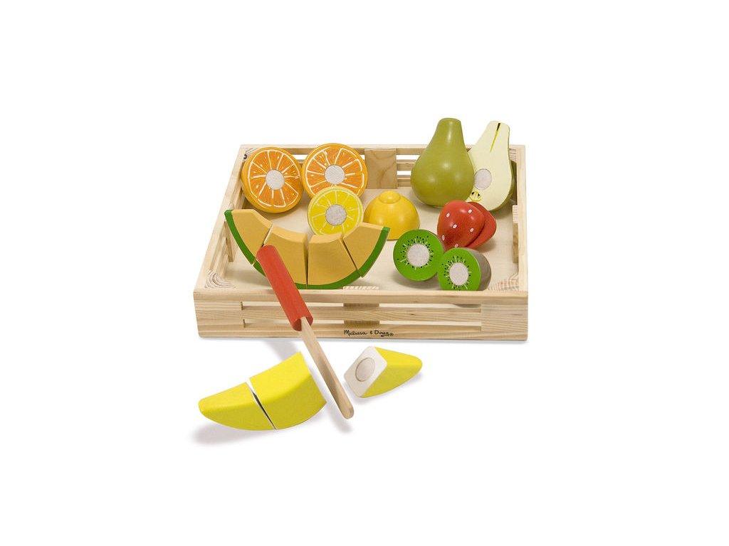 Dřevěné krájení ovoce