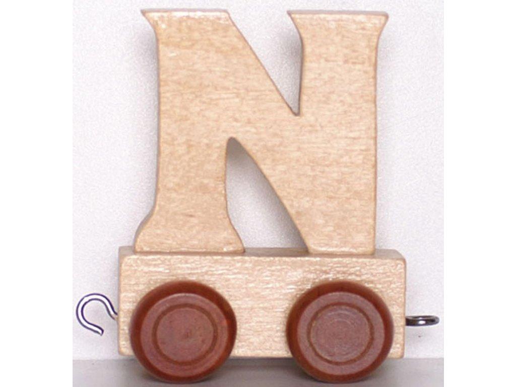 Písmenkový vláček N