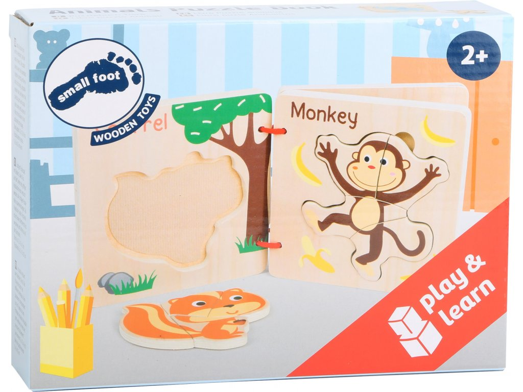 11122 legler small foot Puzzlebuch Tiere Verpackung