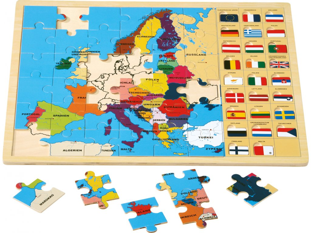 8149 legler small foot Rahmenpuzzle Europa mit Fahnen 20180628