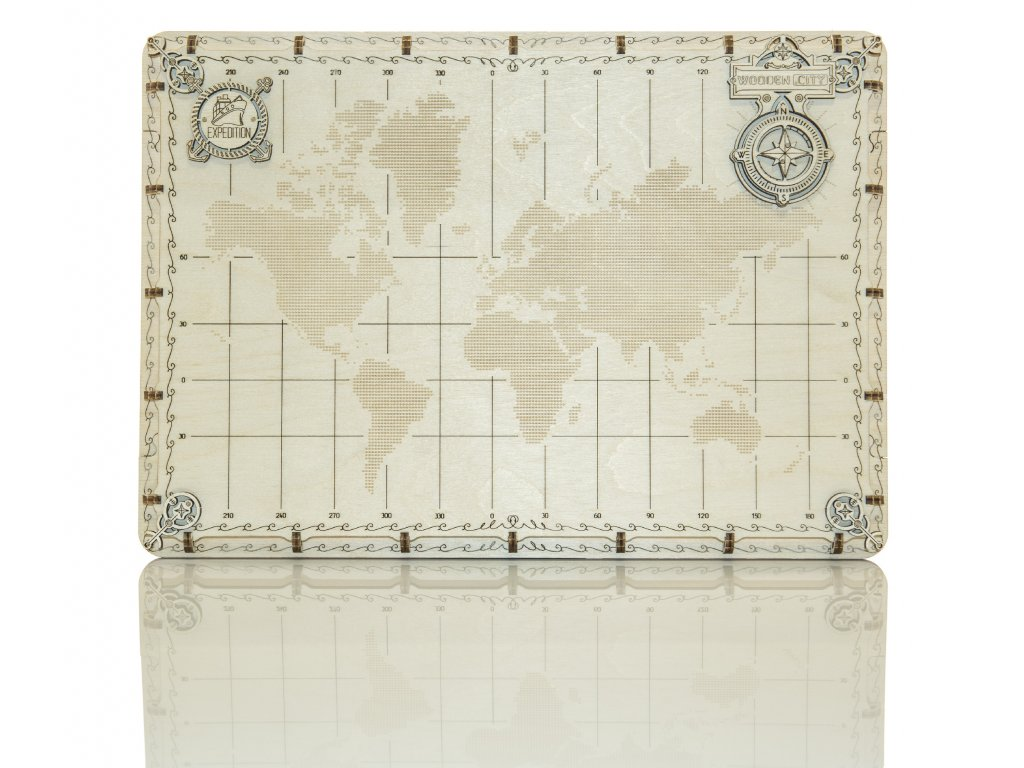 world map dots woodencity 1