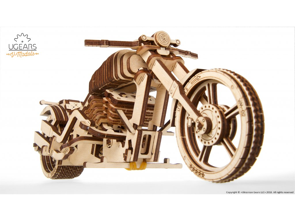 Ugears 3D mechanické puzzle Motorka 189 ks