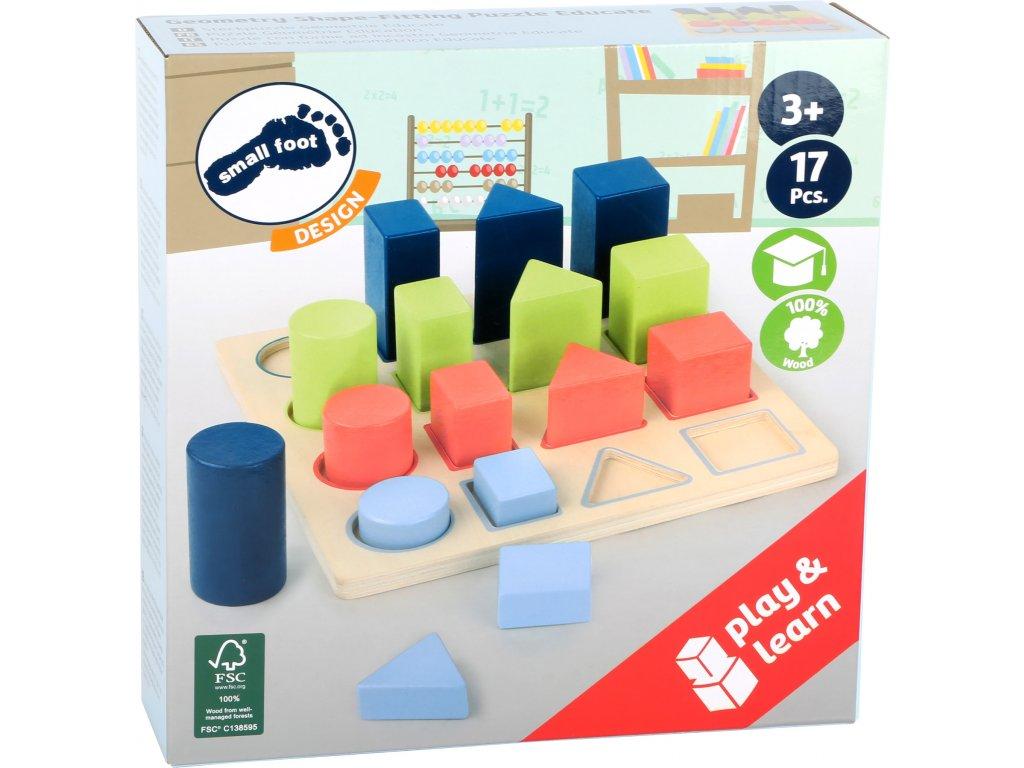 11100 legler small foot Steckpuzzle Geometrie Educate Verpackung