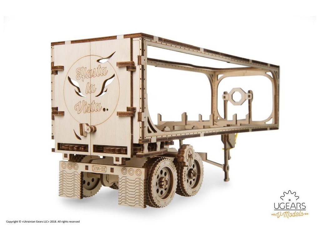 Ugears Heavy Boy Truck VM 03 Trailer 7 max 1000