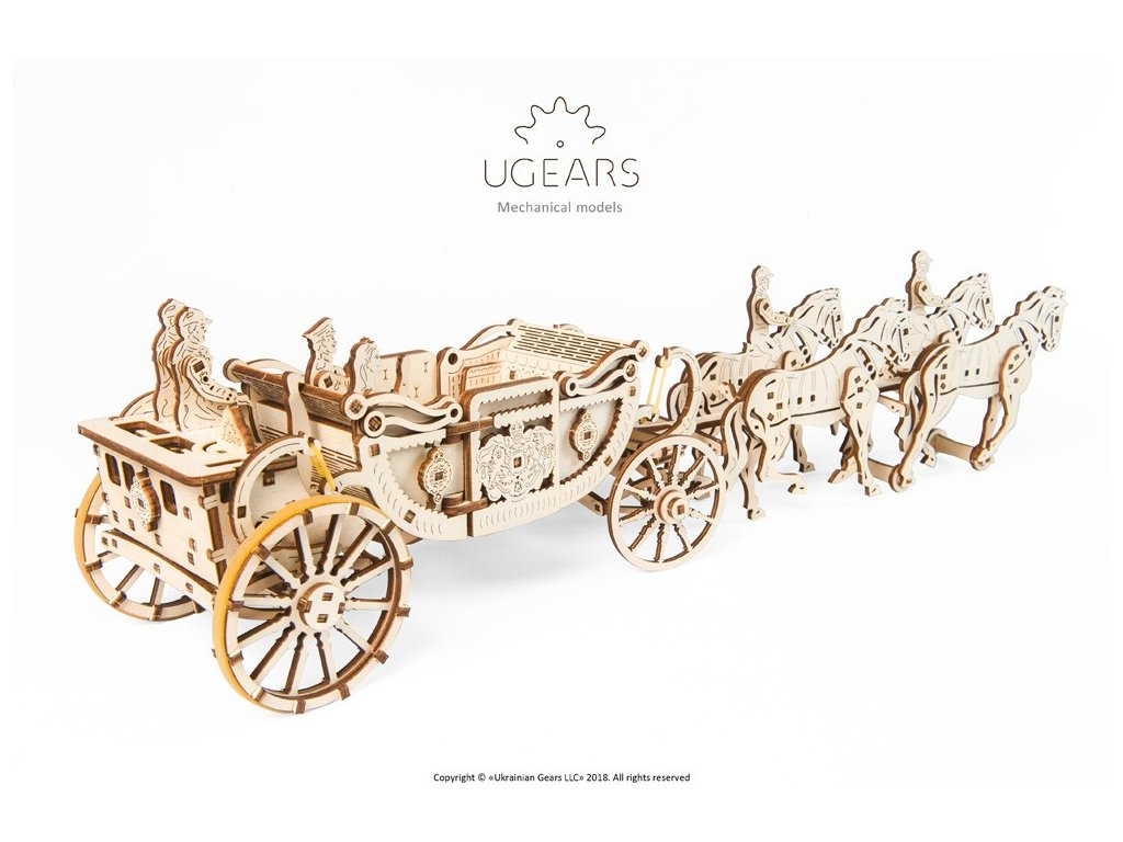 Ugears royal carriage model (4) max 1000