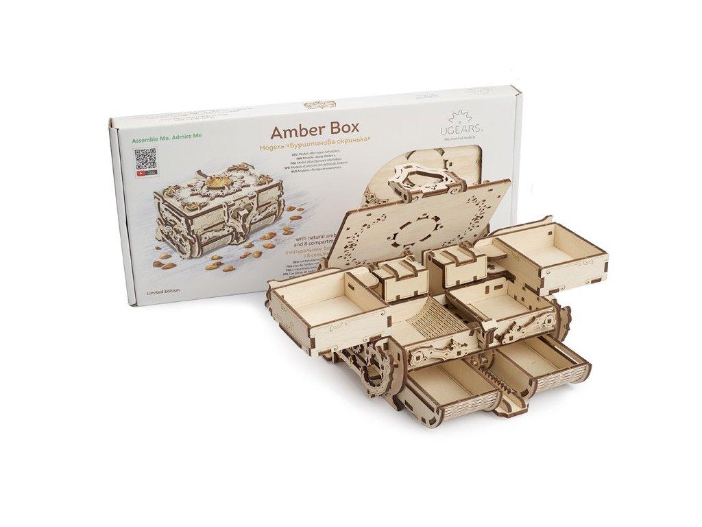 Ugears Amber Box Mechanical Model DSC8015 max 1000