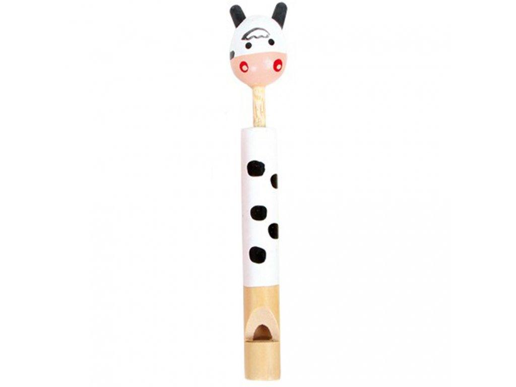 Dřevěná píšťalka - Kravička