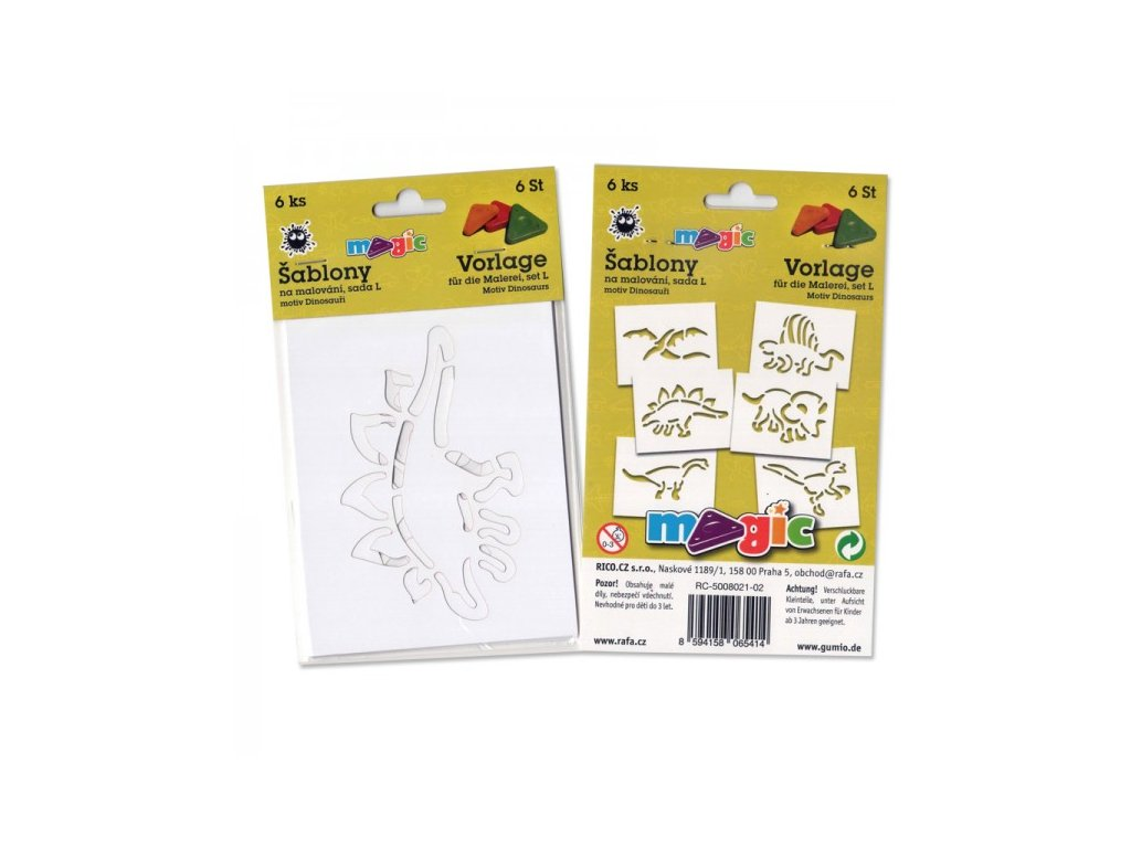 Papírové šablony Magic sada L Dinosauři