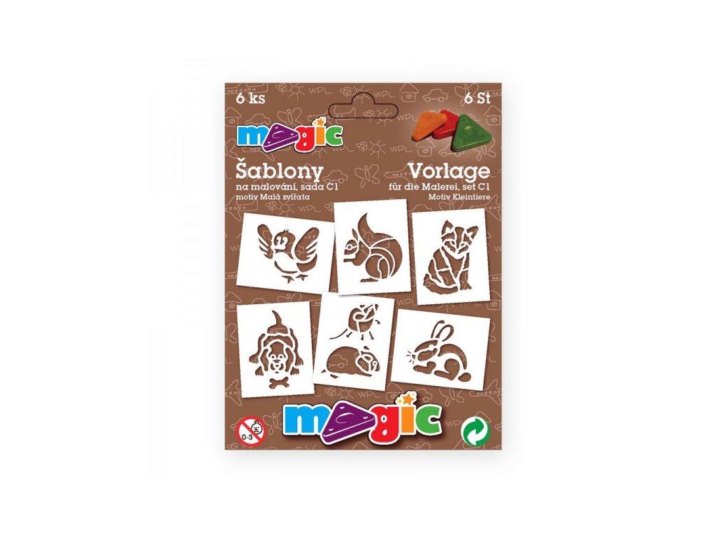 Papírové šablony MAGIC sada C1 Malá zvířata