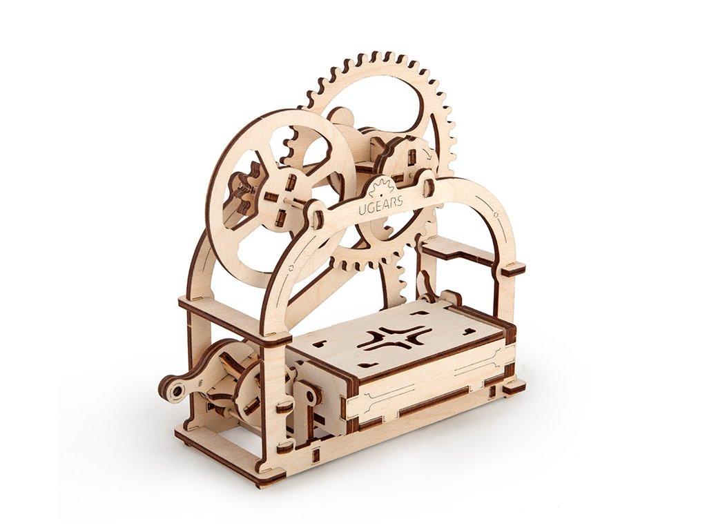 Ugears 3D mechanické puzzle Mechanická krabička 61 ks
