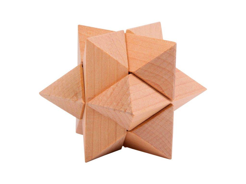 Dřevěný hlavolam Hvězda
