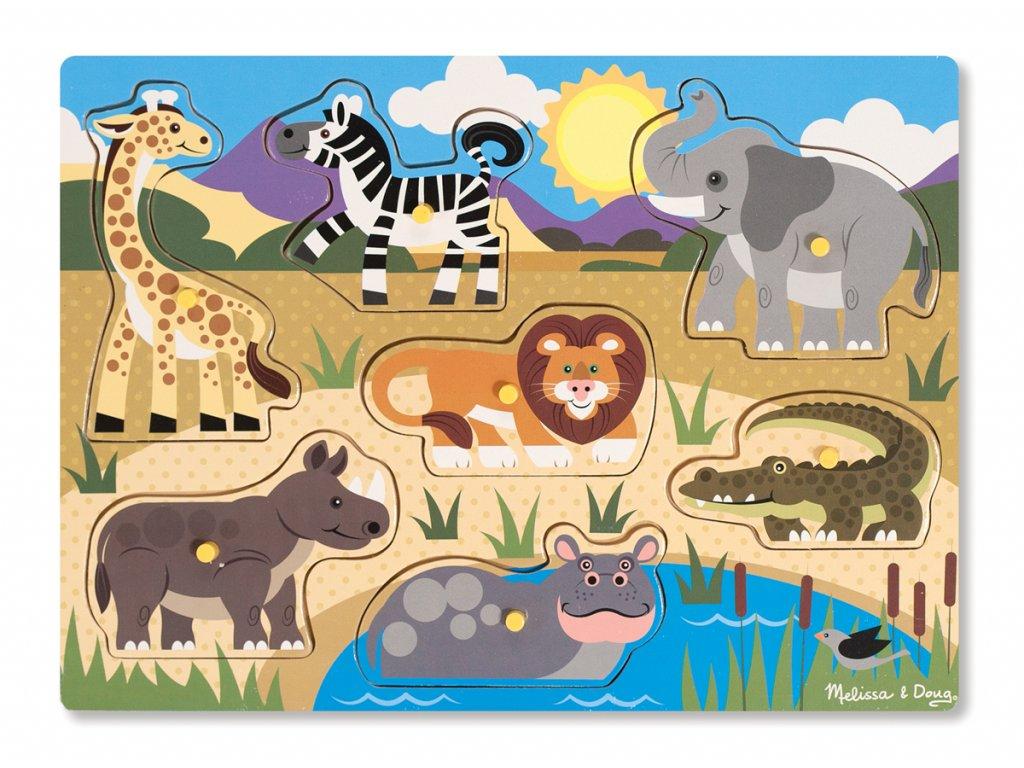 Dřevěná skládačka - Safari