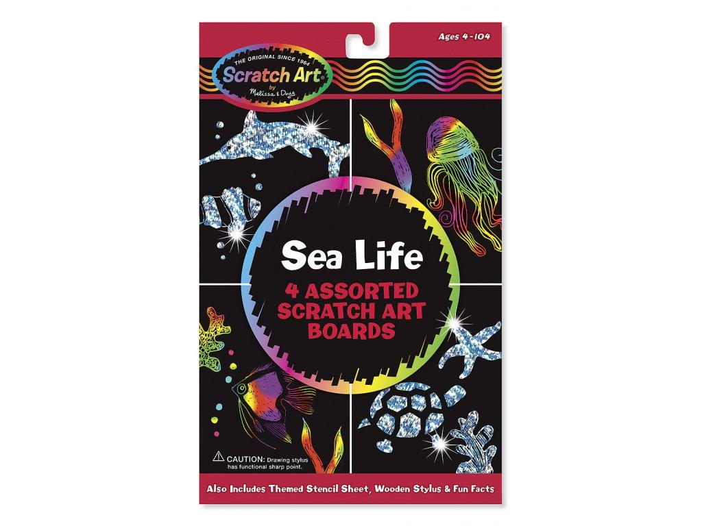 Škrábací obrázky - Mořský život
