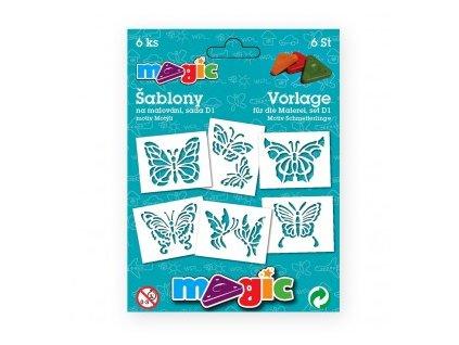 Papírové šablony Magic sada D1 Motýli