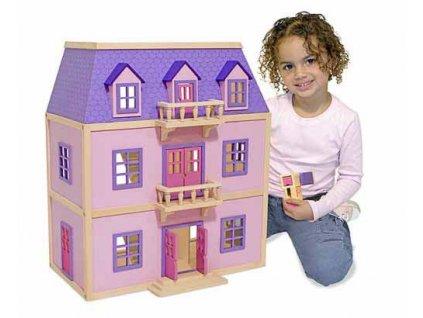 Dřevěný patrový dům pro panenky deluxe