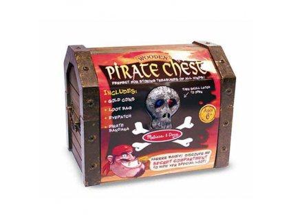 Dřevěná pirátská truhla