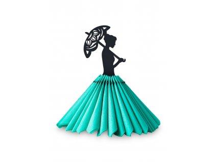Panenka na ubrousky s deštníkem