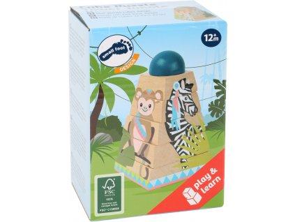 11090 legler small foot Wurfelpuzzle Turm Jungle Verpackung