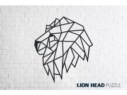 Nástěnné puzzle Lví hlava