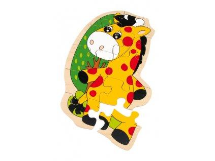 Dřevěné puzzle žirafa