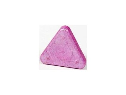 Voskovka trojboká Magic Triangle metalická růžová