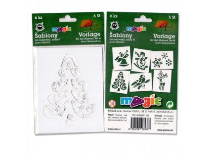 Papírové šablony Magic sada H Vánoce