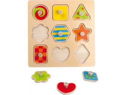 Dřevěné puzzle Tvary