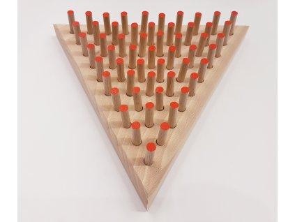 Hlavolam Kolíčky trojúhelník