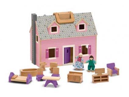Domeček pro panenky v kufříku