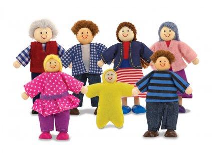 Dřevěné panenky rodinka